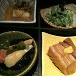 名代とんかつ かつくら 吉祥寺店限定、松花堂御前の前菜。春、春を感じさせてくれるわー♡豚の角煮はホントはお魚だったのになくなったのはご愛嬌。