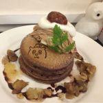"""Cafe&zakka pollo  """"いもくりなんきん大作戦2017""""第2弾。第2弾は栗のスペシャルパンケーキ🌰マロンクリームにジャム、渋皮煮と栗満載でした(๑′ᴗ‵๑)♡"""