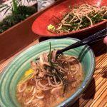 日の陣 エチカフィット永田町店晩御飯はエチカで、鴨汁そば。