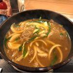 月曜日のお昼は梅田の第二ビル地下のさぬきうどん四国屋で一番人気の出汁が効いたカレーうどんを頂きました!