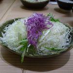 新宿さぼてん 新宿パークタワー店 サラダ 昔はキャベツ食べ放題だった。今はどうかな〜