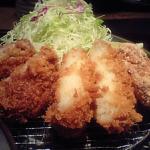 とんかつ和幸 ニューシティ大崎店メンチコロッケ定食780得々ランチて分類だがなぜか14時から16時のメニューになっている