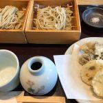 小松庵 総本家 新宿高島屋店 味くらべ(二八蕎麦、十割蕎麦、野菜天ぷら) (^_^)