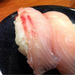 健康寿司海鮮家 CoCoLo東店三の字、という地魚は白身であっさり。やっぱり新潟はお米が美味しい!魚も美味しいから、言うことなしやわ( *`ω´)