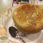 つぼ焼き! 中身はチーズときのこ。今月のフタは緑茶&抹茶。 (@ マトリョーシカ 恵比寿店)