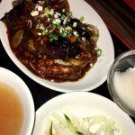 珉珉 光が丘店 茄子味噌定食を頂きました。濃厚でとても甘かったです。砂糖の過剰摂取になってしまった。