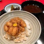 食事。かき揚げ天丼。@天一 京都伊勢丹店