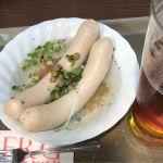 横浜ラガー♪ と ヴァイスブルスト♪ 白ソーセージ美味しい♡ #ビア&カフェ #ベルク #Berg #新宿