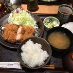 とんかつ 和幸 マークシティ渋谷店。ご飯少な目(≧∇≦)