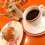 エミリーフローゲ 立川高島屋店。モンブランとコーヒー