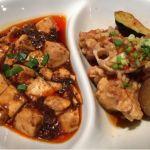 胡同文華 シノアホール 銀座コリドー街店。油淋鶏と麻婆豆腐。