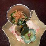 山菜のおひたし、枝豆豆腐。@なだ万 日本橋店
