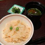 桜エビとタケノコの炊き込みご飯。@なだ万 日本橋店