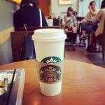 スターバックス・コーヒー アリオ亀有店。一番大きいベンティサイズのスターバックスラテ。#カフェ #cafe