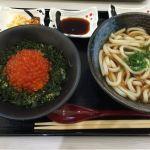 いくら丼小とかけうどんのセット@いくら丼 うえだ ららぽーと新三郷店
