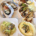オイスタールーム 名古屋ラシック店オイスターランチペアメニュー 5000円ちょっと高いけど生に焼きにグラタンにパスタ!いろんな牡蠣が楽しめさらに産地の食べ比べもできました