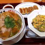 丸醤屋 イオン大垣店 / チャーハン 餃子セット 980円。フードコートにしてはなかなかかな。目の前でチャーハンが作られる様子は面白い。 #ramen