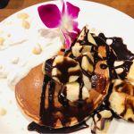 アロハテーブル アスナル金山店 チョコバナナのパンケーキ(。・∀・)しっかりしたパンケーキでとっても満足できました。美味しかったです。