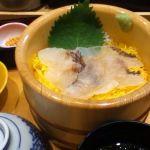 四六時中 名古屋ベイシティ店に来ました。真鯛づくしごはん990円をいただきました。ゴマだれがよく合います。お茶漬け用のだし汁はもう少しだしを効かせてもいいかな・・・。
