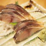 築地玉寿司 浅草エキミセ店 炙りしめ鯖。めちゃくちゃうまい!