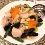 海鮮と季節野菜のあっさり炒め。 ホタテ美味しかったな〜🤤