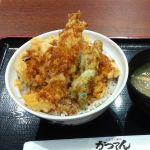 どんぶり屋台 かつてん  イオン桑園店で、天丼大豚汁セット(550円)です。値段とボリューム感が魅力です。