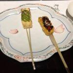 京懐石 美濃吉 そごう千葉店   先付け  豆腐と生麩の二色田楽