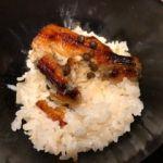 京懐石 美濃吉 そごう千葉店   御飯   釜だき筍ご飯に名物うなぎ蒲焼が載ってます。筍や〜ぃ?