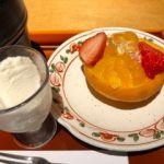 京懐石 美濃吉 そごう千葉店   デザート   フルーツ千年一ジュレと山椒のアイス。山椒かなぁ?