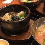 Korean Kitchen Shijan 広島パセーラ店で、シジャン石焼ビビンバとミニ冷麺セット。