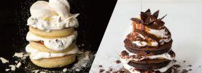 【J.S.パンケーキカフェ】モノトーンカラーに仕上げた冬限定パンケーキ 1/9から