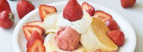 スフレパンケーキ専門店フリッパーズ「奇跡のパンケーキ あまおうづくし」発売