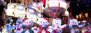 サンリオピューロランドでハローキティが贈る「ハートフルリボンクリスマス」開催