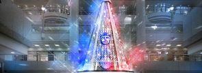 横浜ランドマークタワーのクリスマスイルミは福山雅治とコラボ!ライヴ映像のマッピング演出も