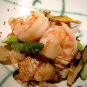 大海老と季節野菜の炒め¥1380