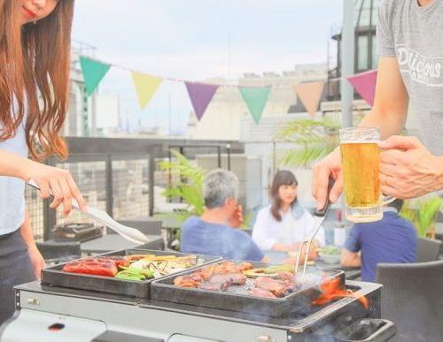 渋谷公園通り「神南軒」屋上の陽だまりテラスで春BBQ!3/24からスタート
