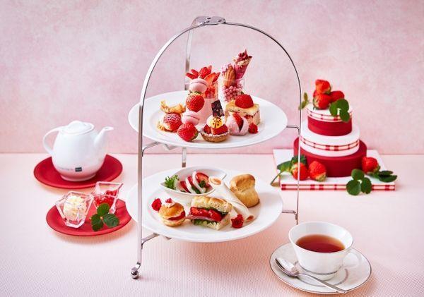 ホテル日航大阪『苺づくしのアフタヌーンティーセット』