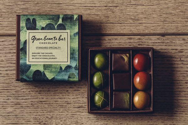 グリーンビーントゥバーチョコレートのボンボンショコラ