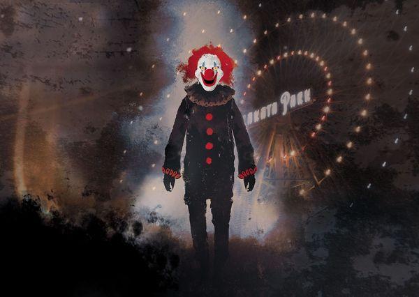 [ひらかたパーク]ダークピエロの隠れ家/呪われた夜の遊園地 笑うキラーピエロ