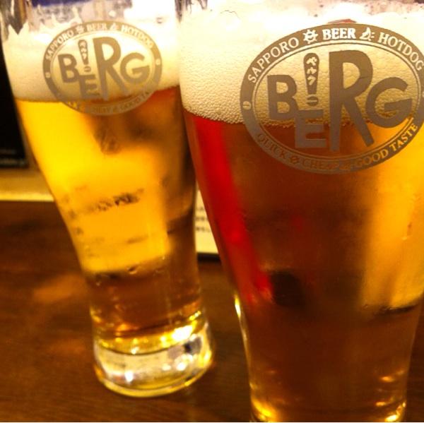 BERG 「新宿の名店、ビールとハムで大満足」