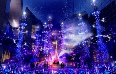 カレッタ汐留イルミネーション 2017(Caretta Illumination 2017 ~真実の愛の物語~)