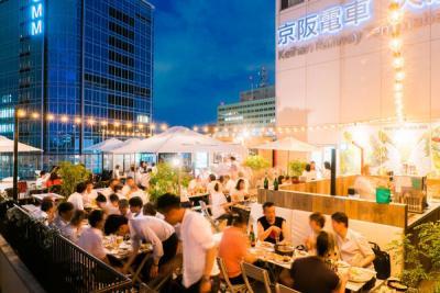 京阪シティモール屋上 grenier36+Rooftopビアガーデン 2018