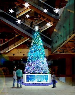マークイズみなとみらい イルミネーション(Wishing Star Christmas Tree)
