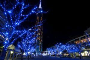 福岡タワー イルミネーション(ももち☆ブルーライトイルミネーション)