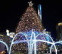 岡山駅 クリスマスイルミネーション (おかやま桃太郎まつり MOMOTAROH FANTASY 2017)