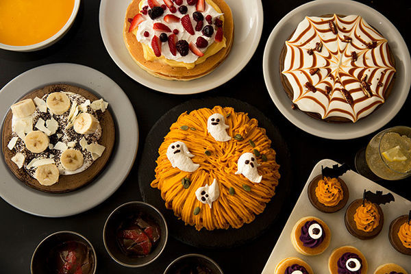 パンケーキをメインに可愛いハロウィンスイーツが食べ放題