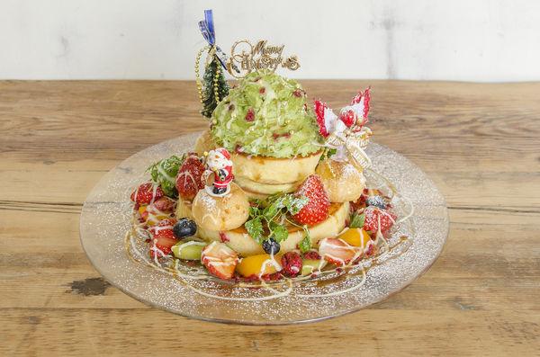 「クリスマスツリーパンケーキ」1,850円(税別)
