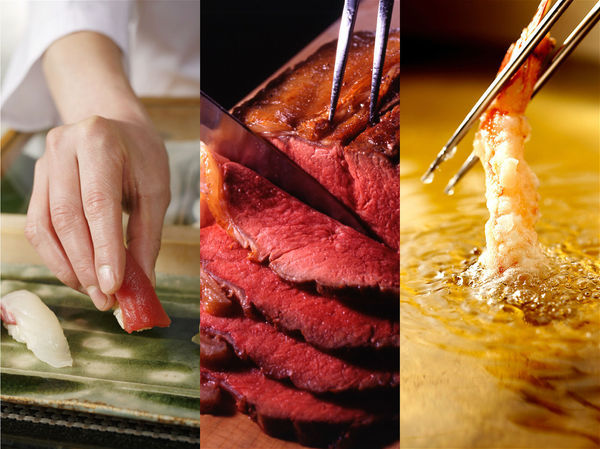寿司やローストビーフ、ホテル王道メニューも食べ放題