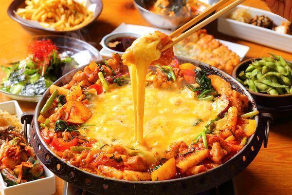 とろ~りチーズの「サムギョプサルコース」