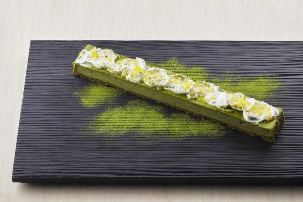 「抹茶と柚子のチーズケーキ」